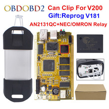 Cyperss AN2131QC AN2135SCフルチップクリップV200 + reprog V181自動診断インターフェイスゴールドpcb canクリップ車1998 2020