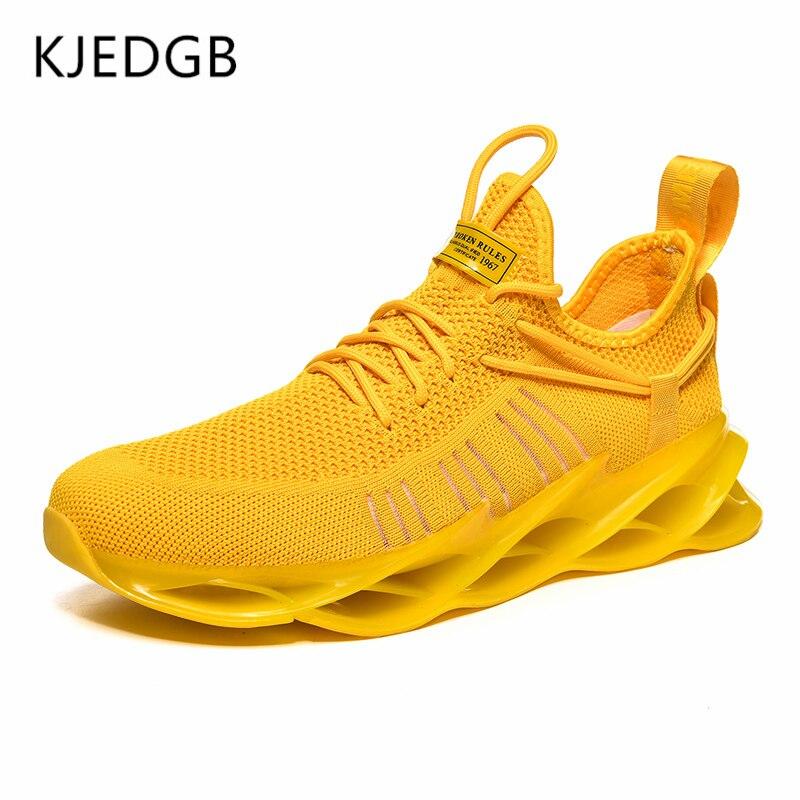 KJEDGB Brand New Men Sneakers 2020 Summer Blade Jogging Men's Shoes Tenis Masculino Adulto Fashion Casual Shoes Male Trainers 2
