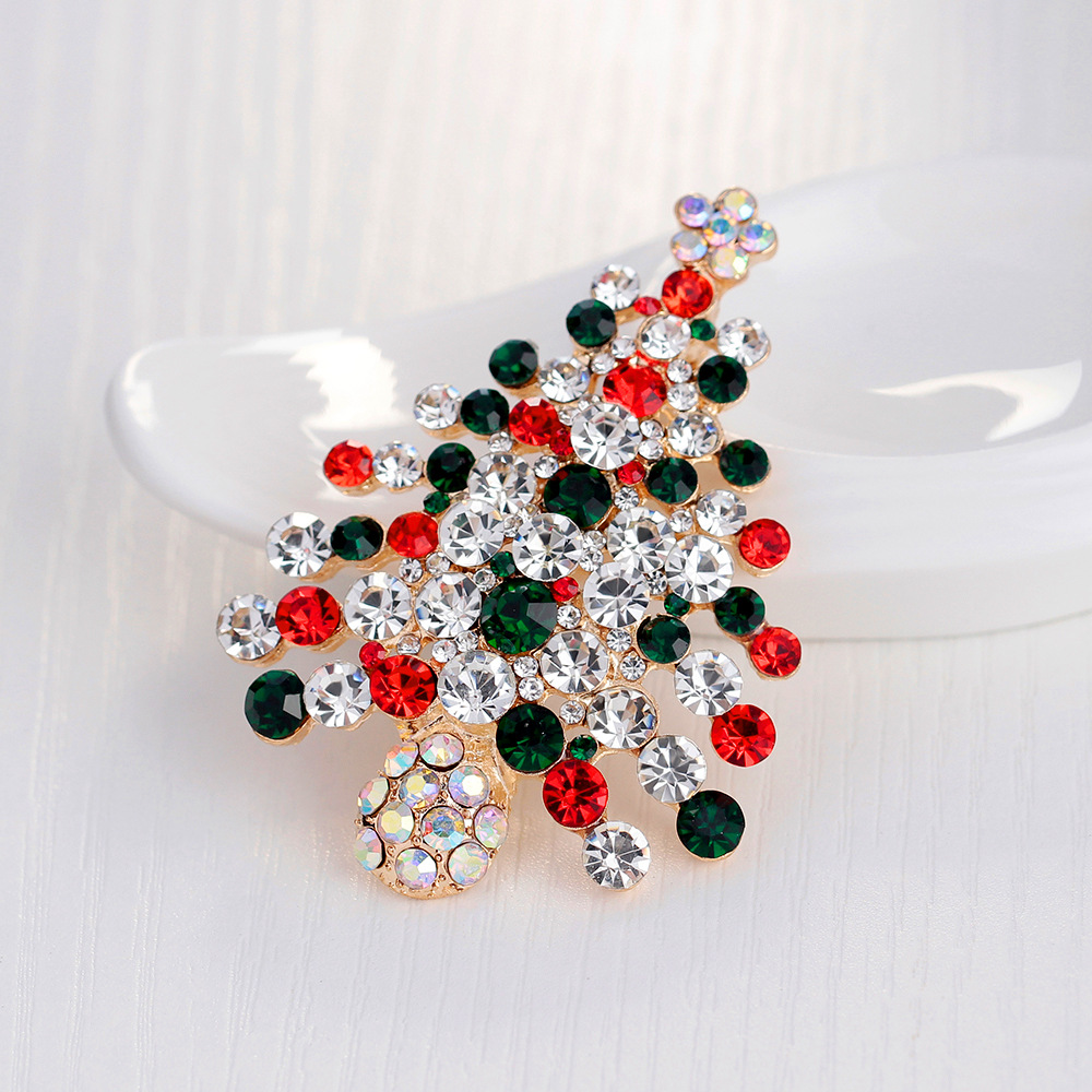 JUJIE Christmas Brooch Series For Women Men Brooches Pins Deer Shoes Christmas Tree Bells Jewelry Wholesale/Dropshipping 4