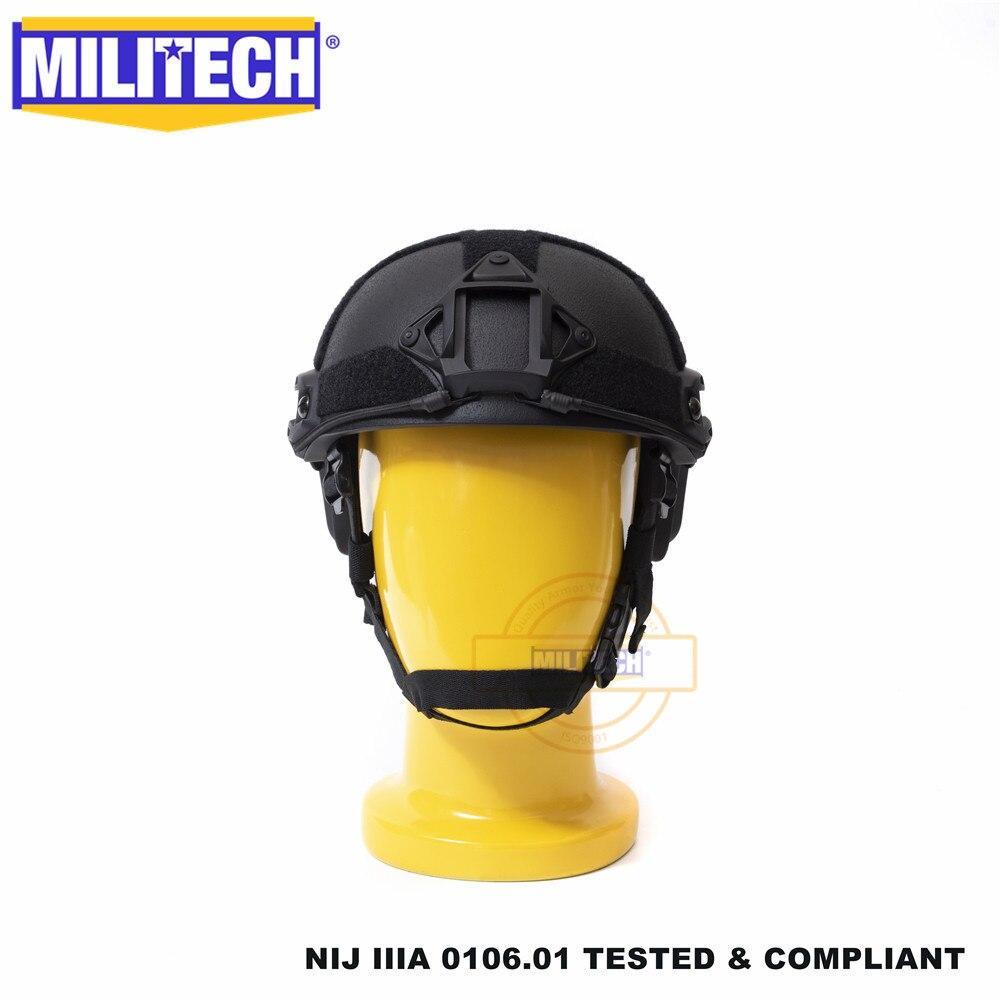 ISO Certified Size S/M MILITECH NIJ Level IIIA 3A FAST High XP Cut Bulletproof Aramid Ballistic Helmet With 5 Years Warranty