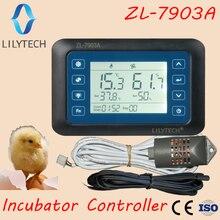 ZL-7903A, lilytech nova versão, 100-240vac, super multifuncional controlador automático de temperatura e umidade incubadora, XM-18