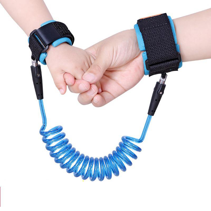 MeterMall 2016 New Design Baby Child Anti Lost Safety Wrist Link  Traction Rope 1.5m Blue