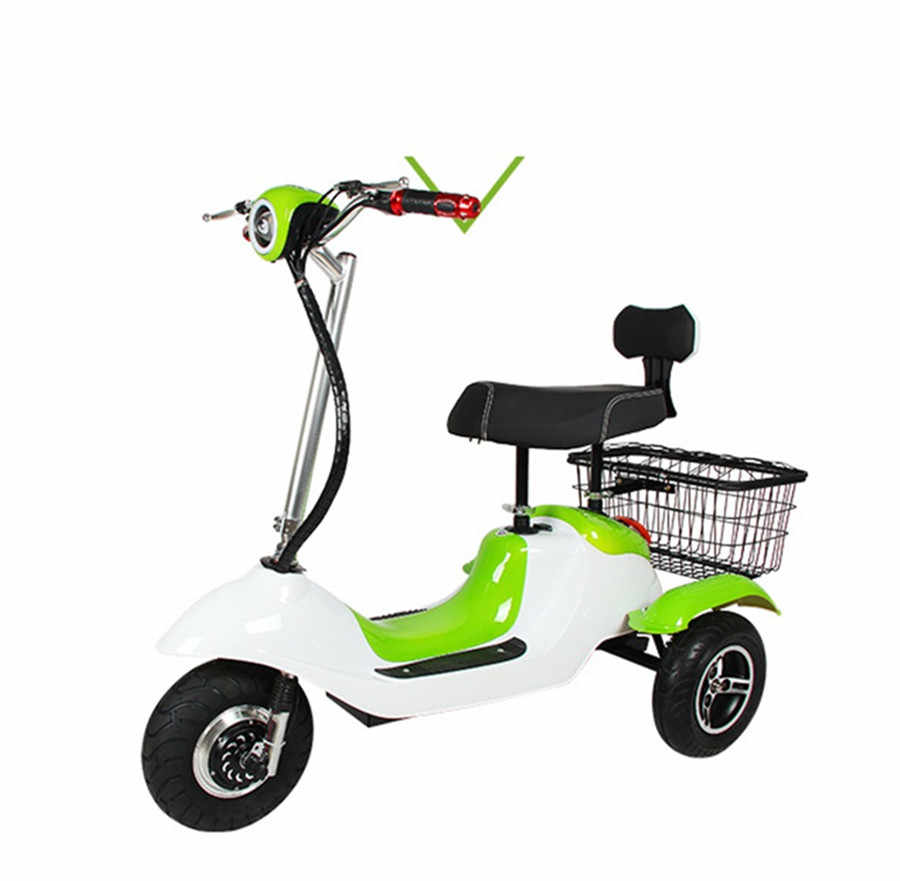 Electric Tricycle Bike Three Wheels Electric Scooters 6.5 Inch 48V 500W Portable 3 Wheel Electric Scooter Adults