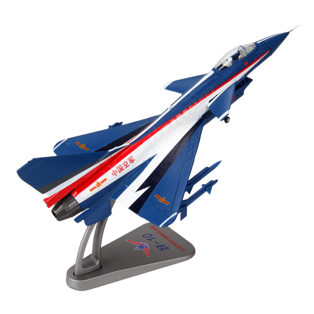 Diecast Fighter Aircrafts Airplane Model - 1/72 Scale China J-10 Vigorous Dragon Plane Toy Collectibles