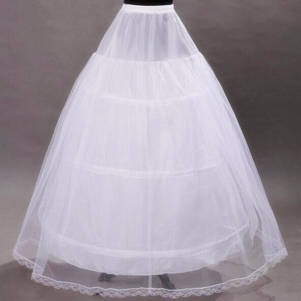 2020 Brand New Petticoats White 3 Hoops 2 Layers Ball Gown Bride Underskirt Formal Dress Crinoline Stock Wedding Accessories
