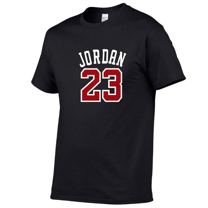 2020 Summer Hot Sale New Tee Jordan 23 Print Men Swag T-Shirt Top Quality Cotton Jordan 23 Hip Hop Short Sleeve T Shirt Men