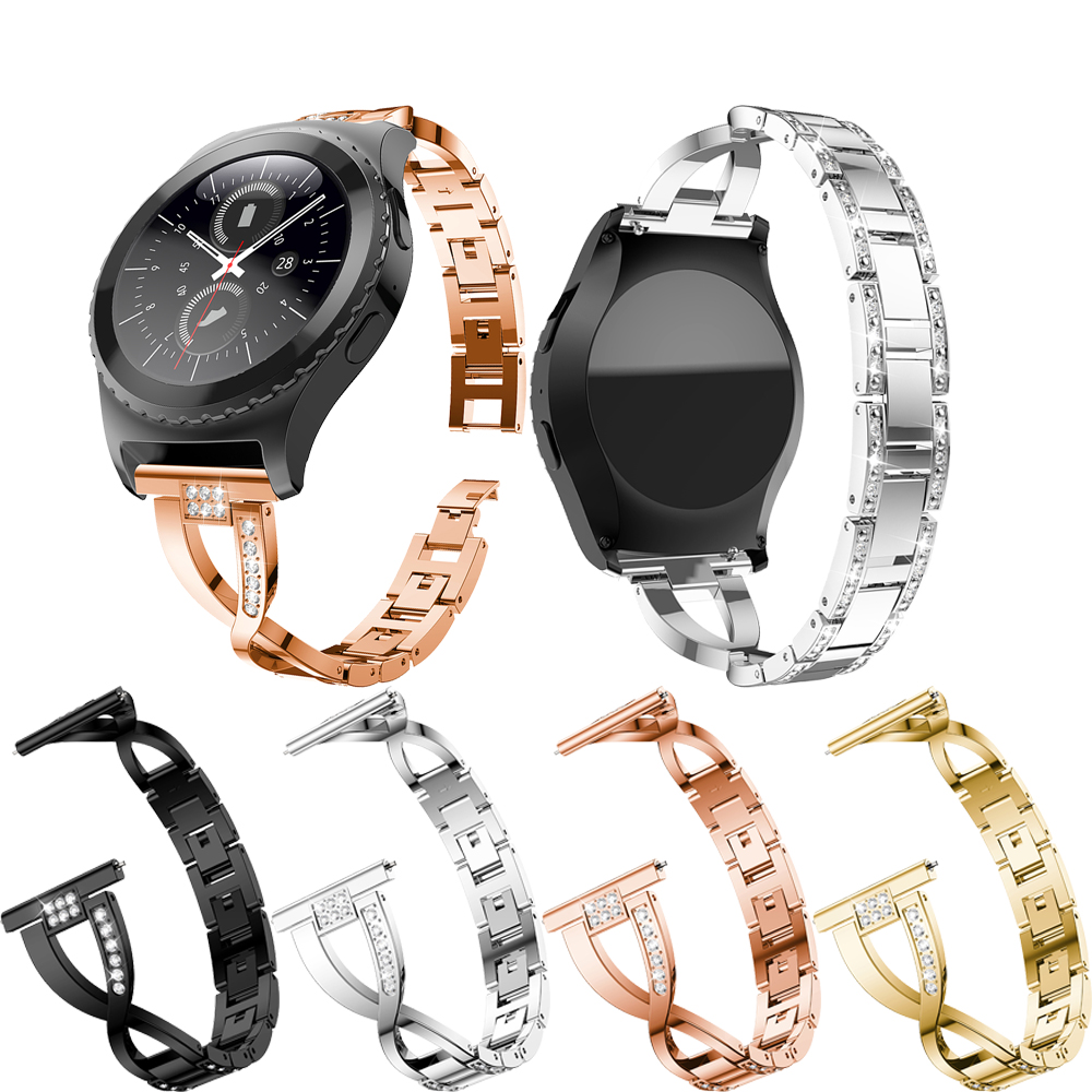 20mm replace bracelet for Samsung Gear S2 Women Band with Rhinestone Strap For Samsung Galaxy Watch Active wristband Accessories