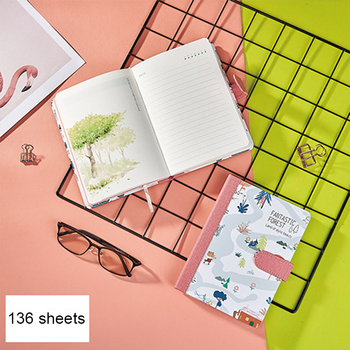 цена A5 Hardcover Forest Buckle Personal Diary Notebook Cute Leather Pocket Bullet Journal Planner Filofax Weekly Diary Travelers онлайн в 2017 году