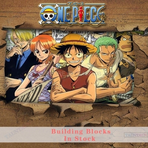 Blocks One Piece Carton Movie Figure Toys Luffy Chopper Nime Zoro Robin Ace Sabo Action Figures Christmas Gift City Blocks Toys(China)