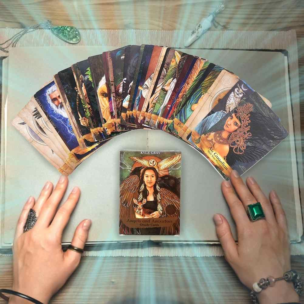 55 Buah/Bungkus Malaikat dan Nenek Moyang Kartu Oracle Bahasa Inggris Read Permainan Kartu Ramalan Nasib Oracle Deck Kartu
