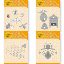 Piggy craft corte de metal morre molde favo de mel abelha scrapbook papel ofício faca molde lâmina soco estênceis dados