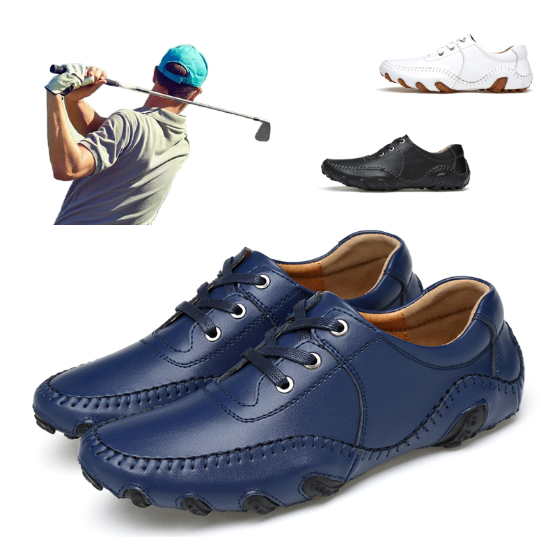 2020 New Men Golf Shoes Leather Comfortable Outdoor Golf Sneakers Big Size 38-47 Mens Golf Sport Training Shoes