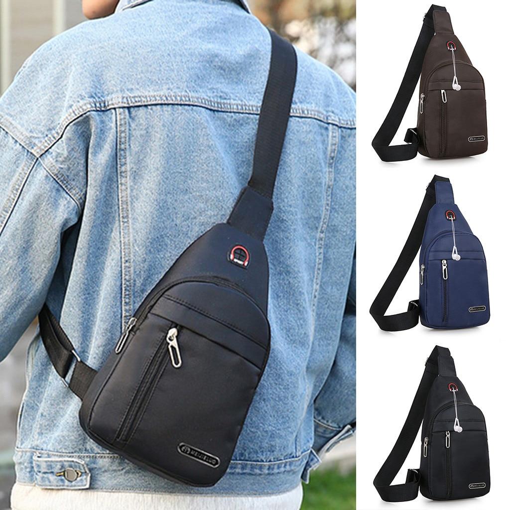 Winter 2020 Men Fashion Casual Chest Bag Messenger Crossbody Bag Handbag Single Should Bags Dropshipping Ins Style Net Red P