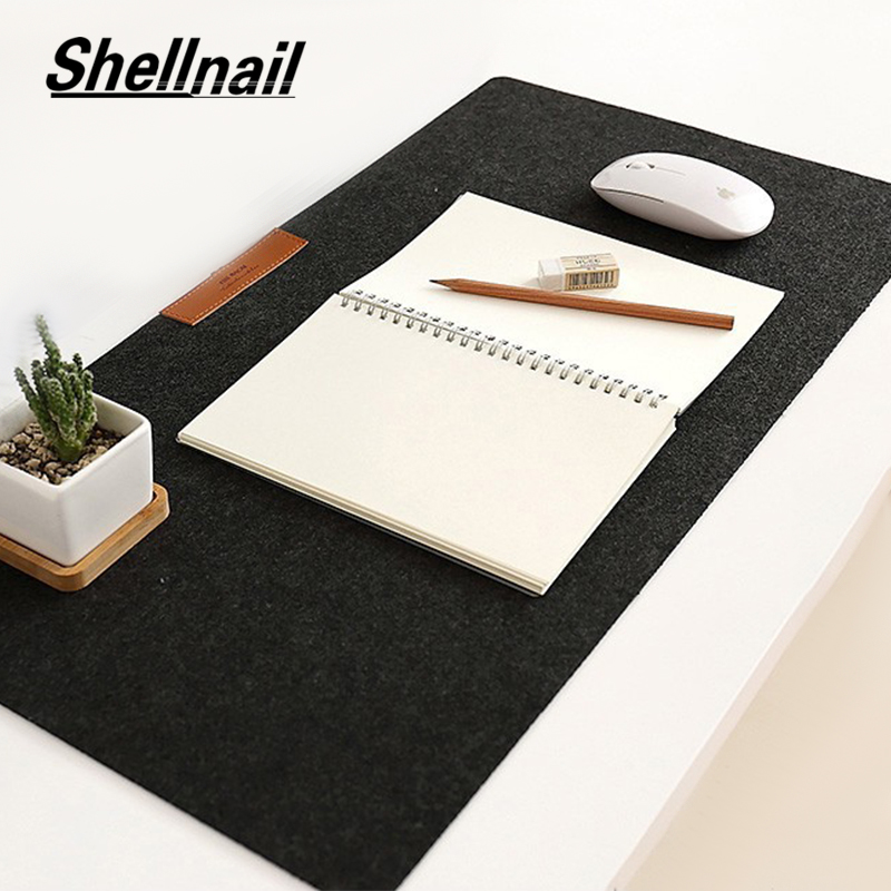 Shellnail Soft Wearable Mice Pad Office Computer Desk Mat Modern Table Wool Felt Laptop Cushion Large Mouse Pad Gaming Mouse Pad