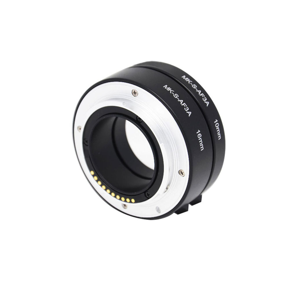 Photography Macro MK-S-AF3A Mirrorless Camera Adapter Lens 10mm 16mm Extension Tube Accessories E-Mount Ring For Sony A6000 A7 image