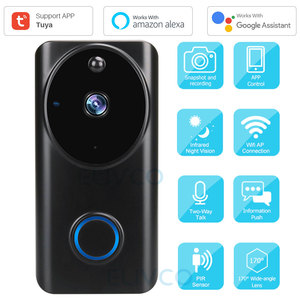 Video Doorbell Tuya 1080P WiFi Smart Video Intercom Door Bell IP Camera Home Security Monitor Compatible Alexa Google Assistant|Video Intercom| |  -