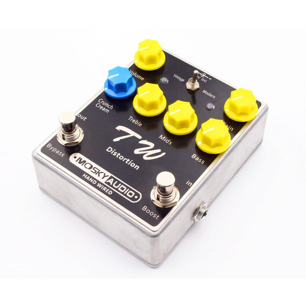 TW distorsion guitare effet pédale Fine-qualité avec condensateurs résistances IC trois bandes EQ guitare effets guitares accessoire - 5