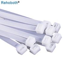 100 шт 10*1000 мм нейлоновые кабельные стяжки белый черный самоблокирующиеся пластиковые стяжка для провода кабельбиндер