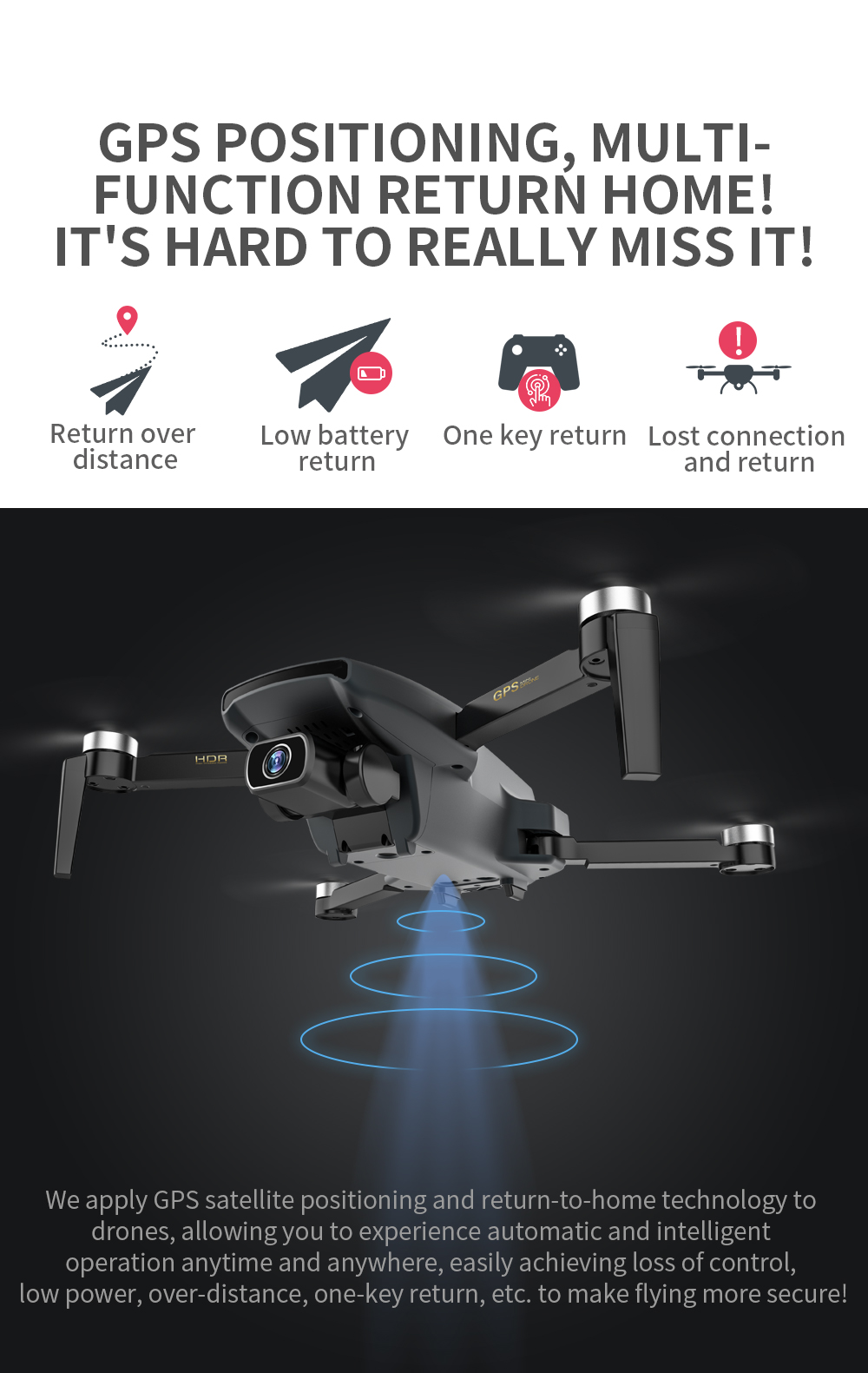 Ha642e09ef3e5499dbe308147faddd250U - ZLL SG108 Pro GPS Drone With 5G Wifi FPV 4K HD Dual Camera Brushless RC Foldable Quadcopter 1000m Control Distance Dron VS KF102