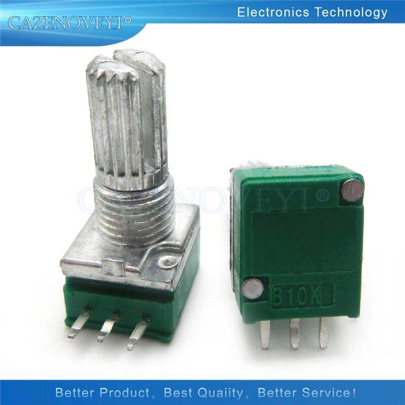 5 шт./лот RK097N 1K 5K 10K 20K 50K 100K 500K 250K B5K с переключателем звука, 3-контактный вал, 15 мм усилитель, герметичный потенциометр