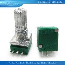 5 pçs/lote RK097N 50 20 10 5 1K K K K K 100K 500K 250K B5K com um interruptor de áudio 3pin 15mm amplificador potenciômetro vedação do eixo