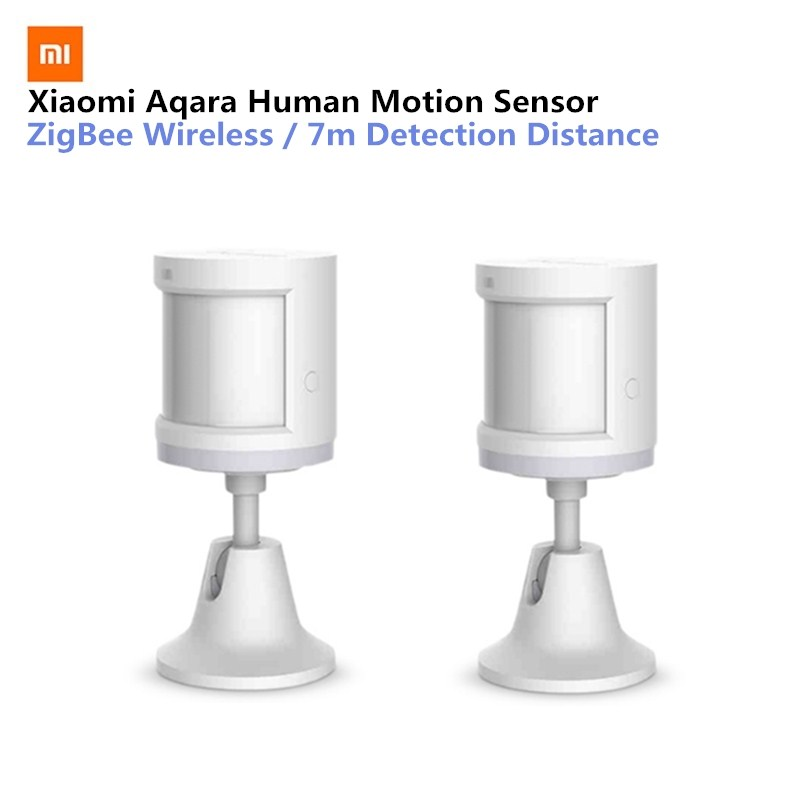 Original Aqara Smart Home Human Body Sensor Security Device With Holder Stand Movement Sense Light Intensity Detection