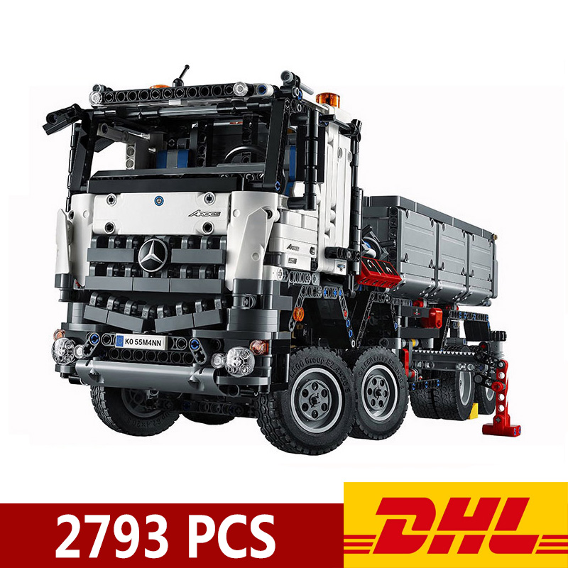 DHL Technic Series car-styling Truck Model Building Blocks 20005 90005 2793Pcs Bricks Sets Toy Children's Christmas Present Gift image