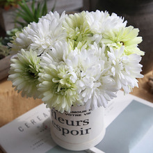 цена на 7 heads Daisy Flowers Bouquet Artificial Gerbera Flower Fake Silk Holding Flowers for Bridal Wedding Party Home Decor Floral