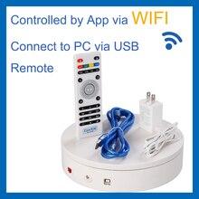 Comxim mt200ruwl20 controle remoto, wifi, usb, rotativa plataforma giratória elétrica para fotografia, display, apoio ao desenvolvimento secundário