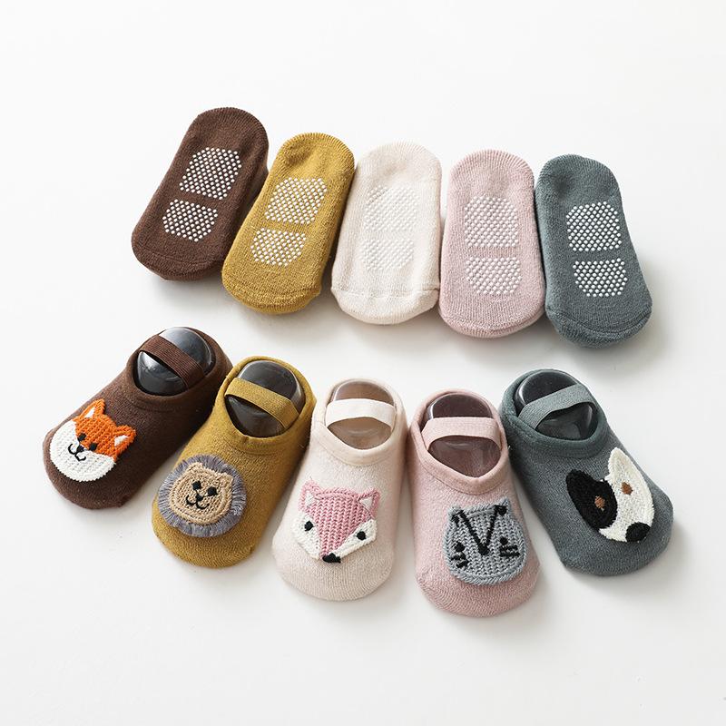 Newborn Cartoon Animal Baby Socks Autumn Winter Soft Cotton Baby Girls Socks  Infant Baby Boy Socks Anti Slip Floor Sock Spring