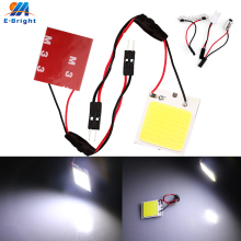 2x Canbus cob 48 SMD chip White Reading Lamp 12v led dome Bulb led Car parking Auto Interior Panel Light t10 Festoon car styling car led dc12v big promotion t10 24 smd cob led panel super white car auto interior reading map lamp bulb light car light source