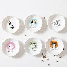 Креативный милый кот маленькое блюдце форма мини тарелка керамика мультяшное блюдо креативная тарелка для закусок Шиншилла белка Ежик чаша