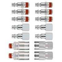 14 adet 1/4 inç Npt hızlı bağlantı hava çoğaltıcı ve fiş kiti hava kompresörü aksesuarları parçaları