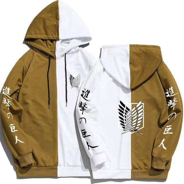 Japan Anime Attack on Titan Print Men Hoodies Sweatshirts Hoodie Patchwork Thin Clothing Hip Hop Streetwear Tops 5