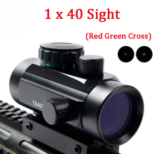 1X40 Tactical Hunting Optics Sight Red Green Dot / Cross Riflescope Airsoft Shooting Scope For 11mm 20mm Mount