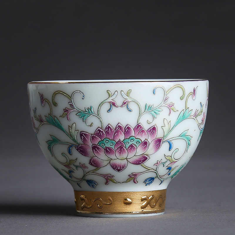 Kung Fu Pequena Xícara de chá Xícara De Chá Em Cerâmica Chá Tigela Casa Único Argila Xícara de chá Azul E Branco Da Porcelana Chá Esmalte Do Vintage