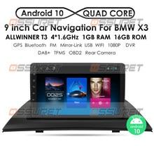 Carplay autoradio android carro dvd media player para bmw x3 e83 2004-2012 rádio multimídia buit em dps carro navegação gps wifi 4g
