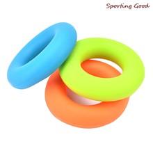 1PC Gummi Hand Grip Ring Festigkeit Muscle Power Training Exerciser Gym Expander Greifer Festigkeit Finger Ring 7cm Durchmesser 3 farbe