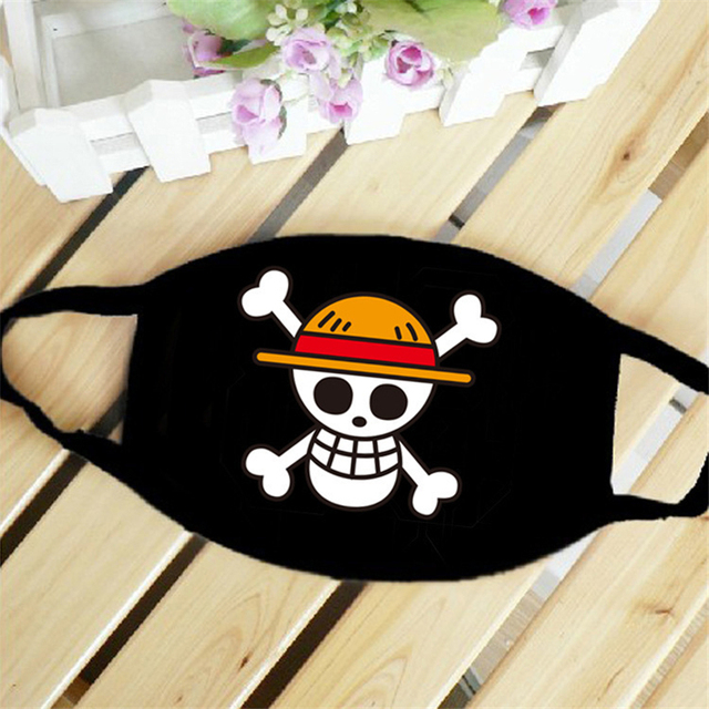 New Anime ONE PIECE Monkey D Luffy Skull The Straw Hat Pirates Symbol Trafalgar Law Cosplay Mask Sports Street Dust-Proof Masks 5