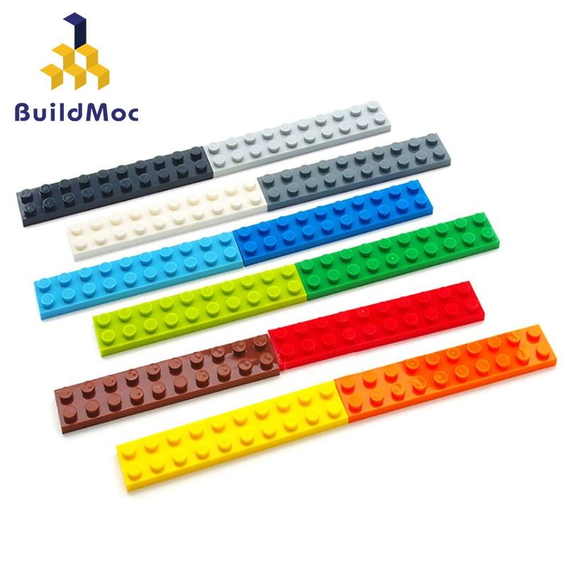 20PCS DIY Building Blocks Thin Figures Bricks 2x10 Dots Educational Creative Size Compatible With Lego Plastic Toys For Children