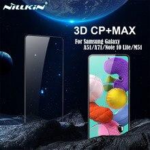 Samsung Galaxy A51 A71 5G M51 Note 10 Lite temperli cam tam kapsama ekran koruyucu için Nillkin 3D CP + Max cam filmi 9H