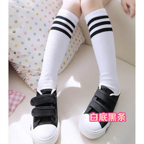 Men And Women Child Tube Socks Three Bars Cotton Children Stockings Over-the-Knee Baby Thigh High Socks Football Socks Factory