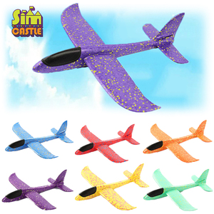 Outdoor Hand Throwing Plane 35cm Flying Launch Sports Glider Aircraft Model Foam Gliding Boys Fun Game Figure Toys for Children(China)
