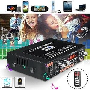 Image 1 - אוניברסלי קול מגבר Bluetooth קולנוע ביתי אודיו כוח Amplificador רכב HiFi סטריאו מגברי תמיכת FM TF AUX MP3 רדיו