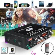 Universal Amplificador de sonido Bluetooth de Audio de cine en casa de Amplificador HiFi para coche amplificadores estéreo compatibilidad con FM TF AUX MP3 Radio
