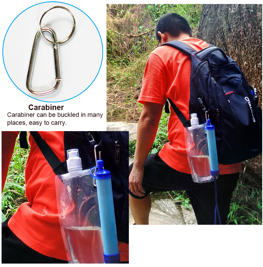 Outdoor Water Purifier Camping Hiking Emergency Life Survival Portable PurifierTravel Wild drink Ultrafiltration  Water Filter 6