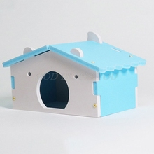 House-Cages Hamster Nest Rat-Mouse Villa Wooden Funny for Colorful