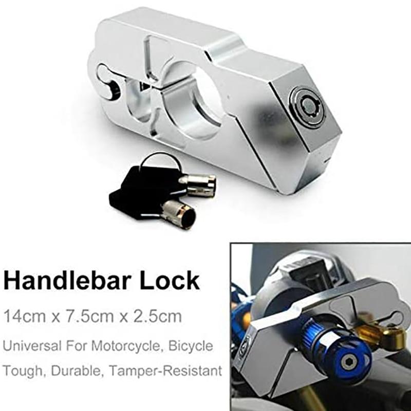 Motorbike Brake Lock Motorcycle Handlebar Lever Throttle Grip Lock for Bike Scooter Moped ATV Silver