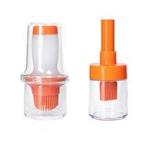 Портативный силиконовое масло бутылка с щеткой для выпечки кисточка