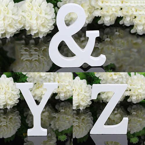 Letras de alfabeto grandes de madera para colgar en la pared, 6cm, novedad, 1 unidad, decoración para el hogar, para bodas, fiestas, decoración de letras grandes